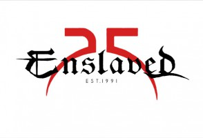 Anniversary logo. Enslaved 25 years.