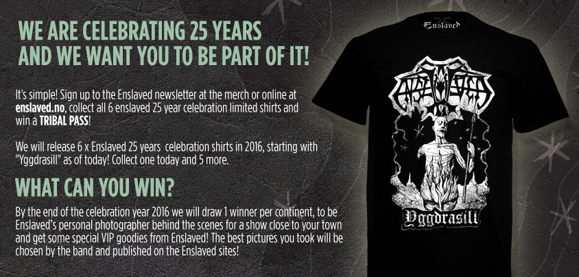 Banner for the Enslaved merch store