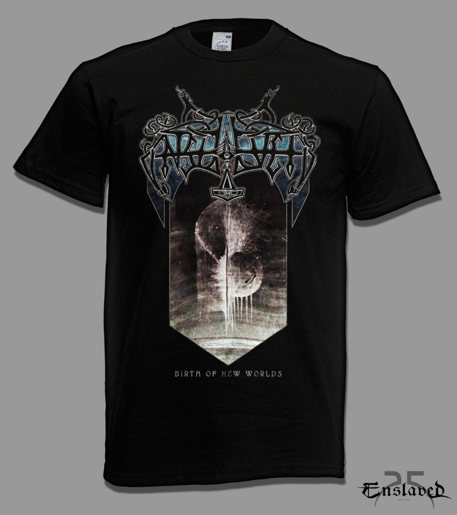 Shirt design now - The Title Birth Of New Worlds Is Taken From The Blodhemn Album And This Shirt Underlines The Prophecy Contained In Just Those Words